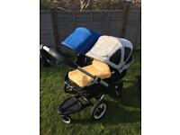 Bugaboo Donkey Double Pushchair with Carry Cot and Buggy Board