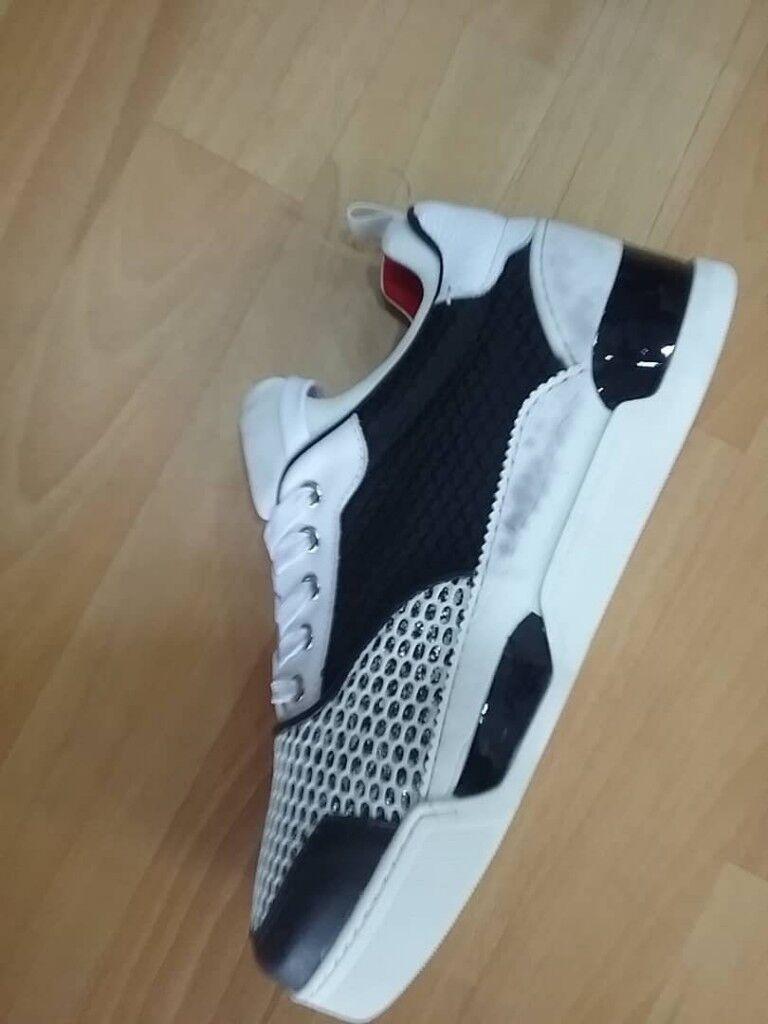 50ace0cfb3d Christian Louboutin- Men s Aurelien Sneakers (Black White Silver) New season