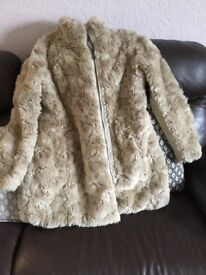 Lovely fur coat from next size 14/16 very good condition