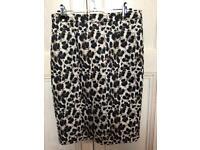 Ladies New Leopard Print Pencil Skirt UK 10