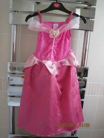 SLEEPING BEAUTY DRESS Age 3-4 - BEAUTIFUL - With headress!