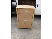 chest of drawers. H 124 D 80 W 50 CM. 50 pound...newry..if advert still here,still for sale.
