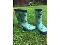 Boy's aeroplane wellies