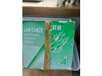telephone cable Cat 6 e cable for house phones , New build over 200m left in box for sale  Lanark, South Lanarkshire