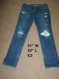 Men's Jean 31 w 32 l Collection from didcot Smoke and pet free home