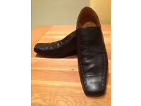 Base Black 'Lizard' Men's Slip-on Shoes (UK10/EU44) JUST REDUCED