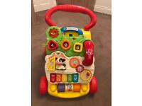 VTech first steps baby walker red yellow floor tou