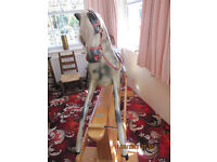 Large Haddon Rockers Rocking Horse in very good condition with Haddon Wallingford label number 36165