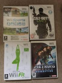 Wii fit board & console with 4 games and all leads
