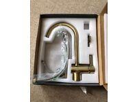 Brushed gold kitchen tap