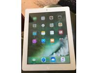 iPad WiFi 16gb Silver 4th Generation used. working but crack on screen