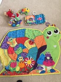 Lamaze play mat and Lamaze toy bundle