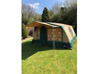 Cabanon Athena six berth frame tent in excellent condition with additional sun canopy.