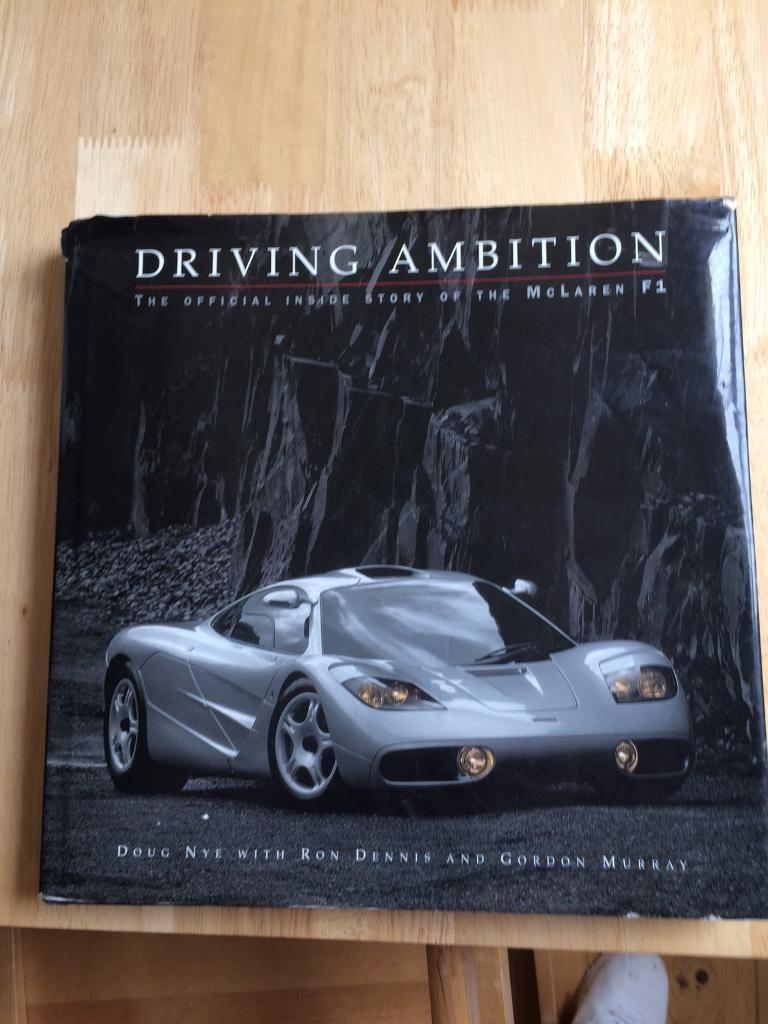 rare mclaren f1 book - driving ambition | in worcester park, london