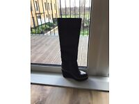 Black leather boots - TOPSHOP - brand new!