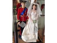William & Kate wedding dolls
