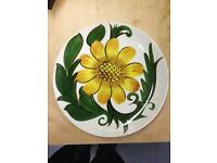 Wade china plate hand painted vintage in lovely condition