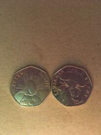 50p Rabbits coins