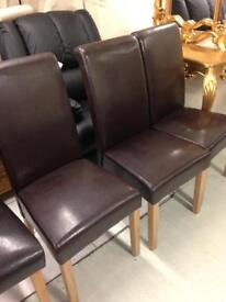 Brown leather chairs £60 each