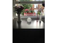Desk / Table Lamp incl. bulb - white glass