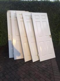 5 doors white interior wooden 6 pannel