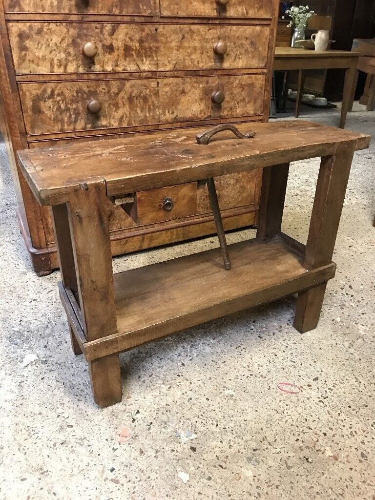 Vintage Antique French Workbench Sideboard