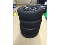 4x Winter / Snow Tyres and Steel wheels - VW Polo & Similar - Vredestein Snowtrac 3