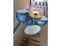 Kids 3 Piece Blue Drumkit