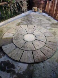 Round paving stones