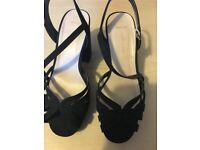 Ladies Sandals New Look Size 5 Wide Fit Black