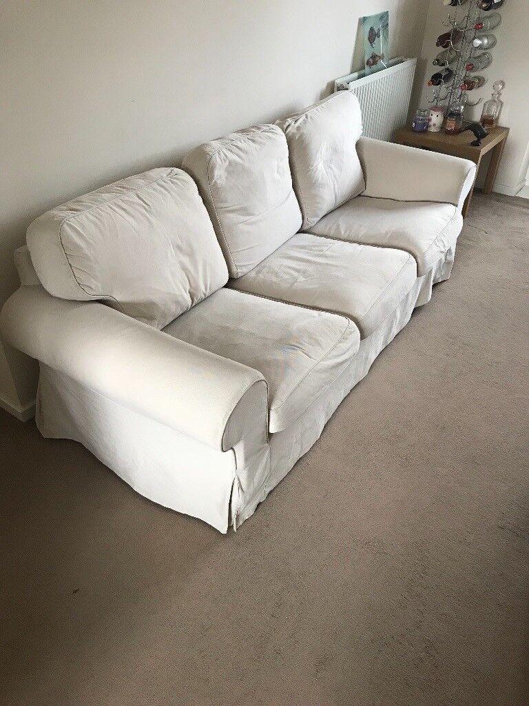 Beige/Cream 3 Seater Sofa
