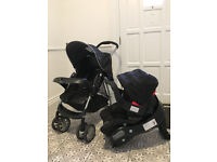 Graco Mirage travel system (buggy, car seat & base, rain cover)