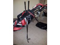 Golf Clubs. Full set of Ben Sayer Graphite shaft clubs and bag Falmouth.