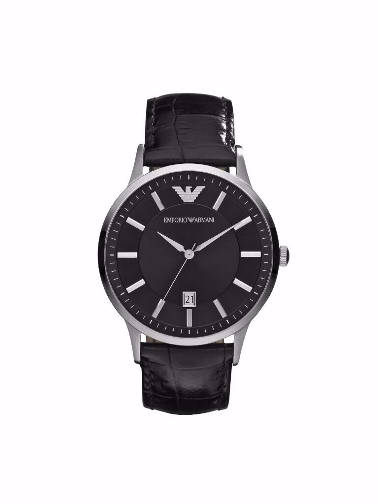 Cheap Emporio Armani Mens WatchBrand New and Boxed worth160in Redbridge, LondonGumtree - Brand New and Boxed RRP £160 can be found on the House of Fraser website My price £59 Perfect present for anyone! Open to negotiation within reason! Sleek mens Emporio Armani watch. This model features a round stainless steel case and set around a...