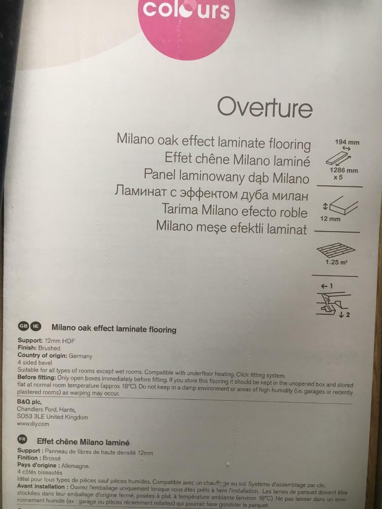 18 Packs Of B Q Overture Milano Oak Effect Laminate Flooring