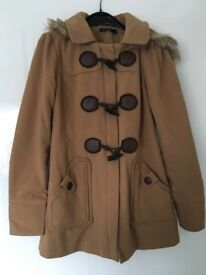 Sizs 10 light brown toggle coat