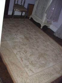 Large Laura Ashley gold & green Malmaison rug