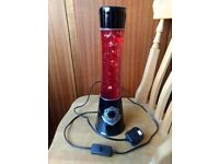 Star Wars RED Imperial / Sith Lava Lamp - Lights up with Tie Fighters Inside Bed Room Lamp / Light