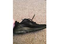 Nike Black School Shoes/Trainers (size uk 3)