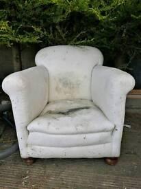 Vintage horse hair arm chair