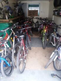over 40 ladies/gents mountain bikes for sale. car boot prices