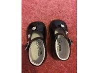 Black infant shoes and girls clothes 6-18 months