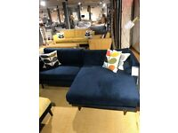 Barker and Stonehouse Royal Blue 3-Seater Corner Sofa (Only 6 months old)