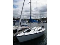 21ft Yacht sailing boat Hunter Horizon