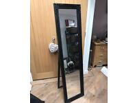 Beautiful Black Framed Cheval Dressing Mirror