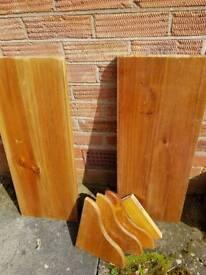 Shelves x 2 solid wood