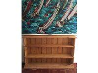 Pine bookcase shabby chic