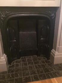 2 identical fireplaces