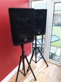 Wharfedale Pro EVP-X12 Speakers with Free Stands