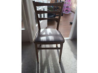 Two dinning room chairs - £5